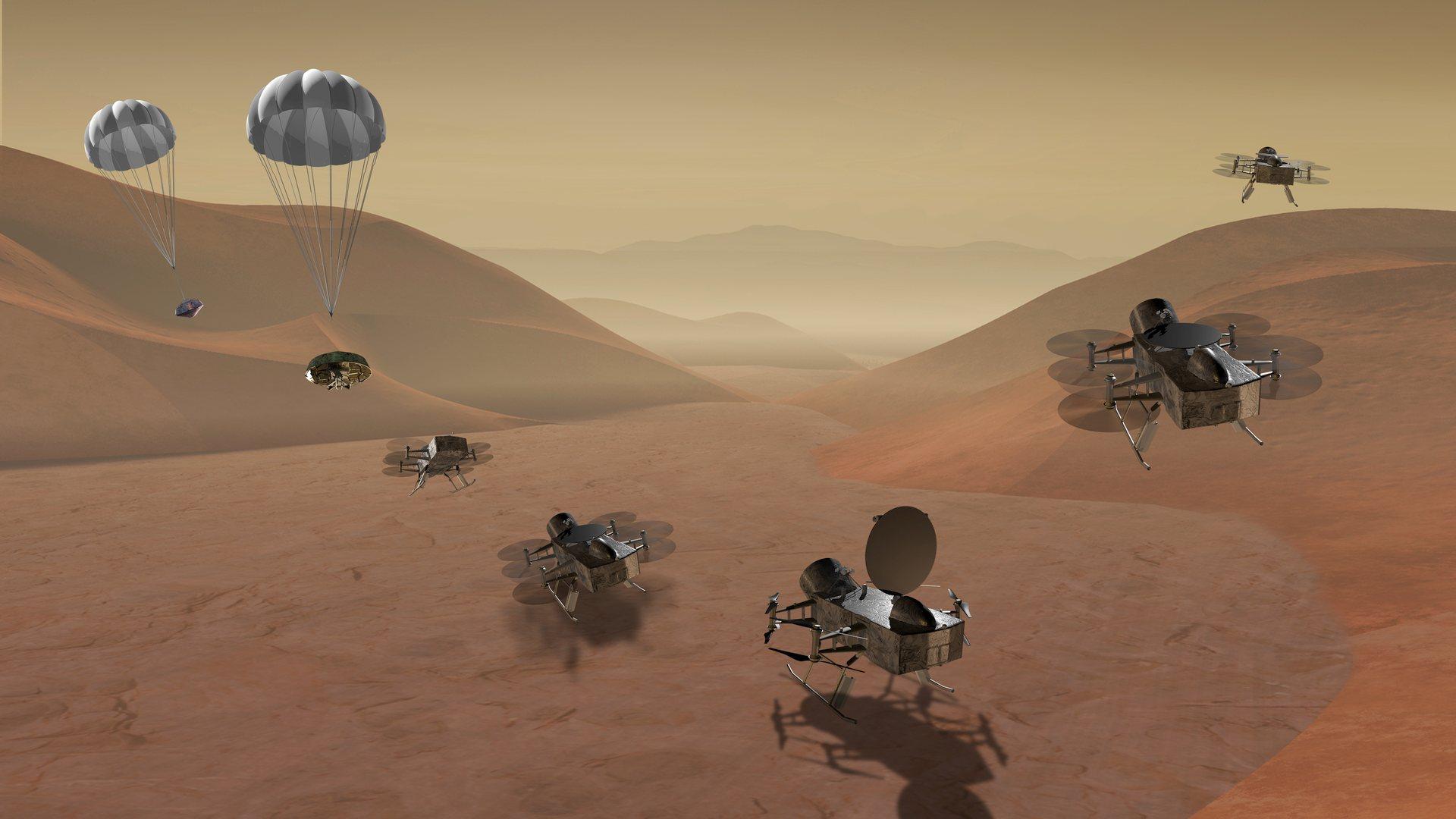 Октокоптеры на Титане