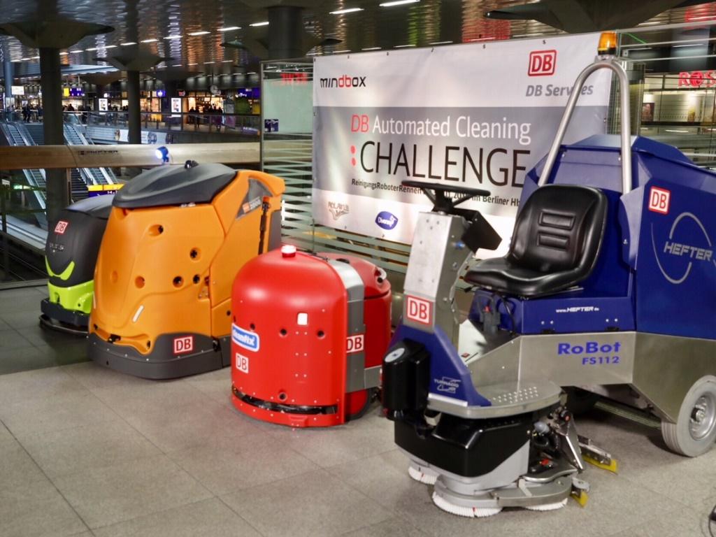 Немецкий ж/д оператор провел соревнования для роботов-уборщиков