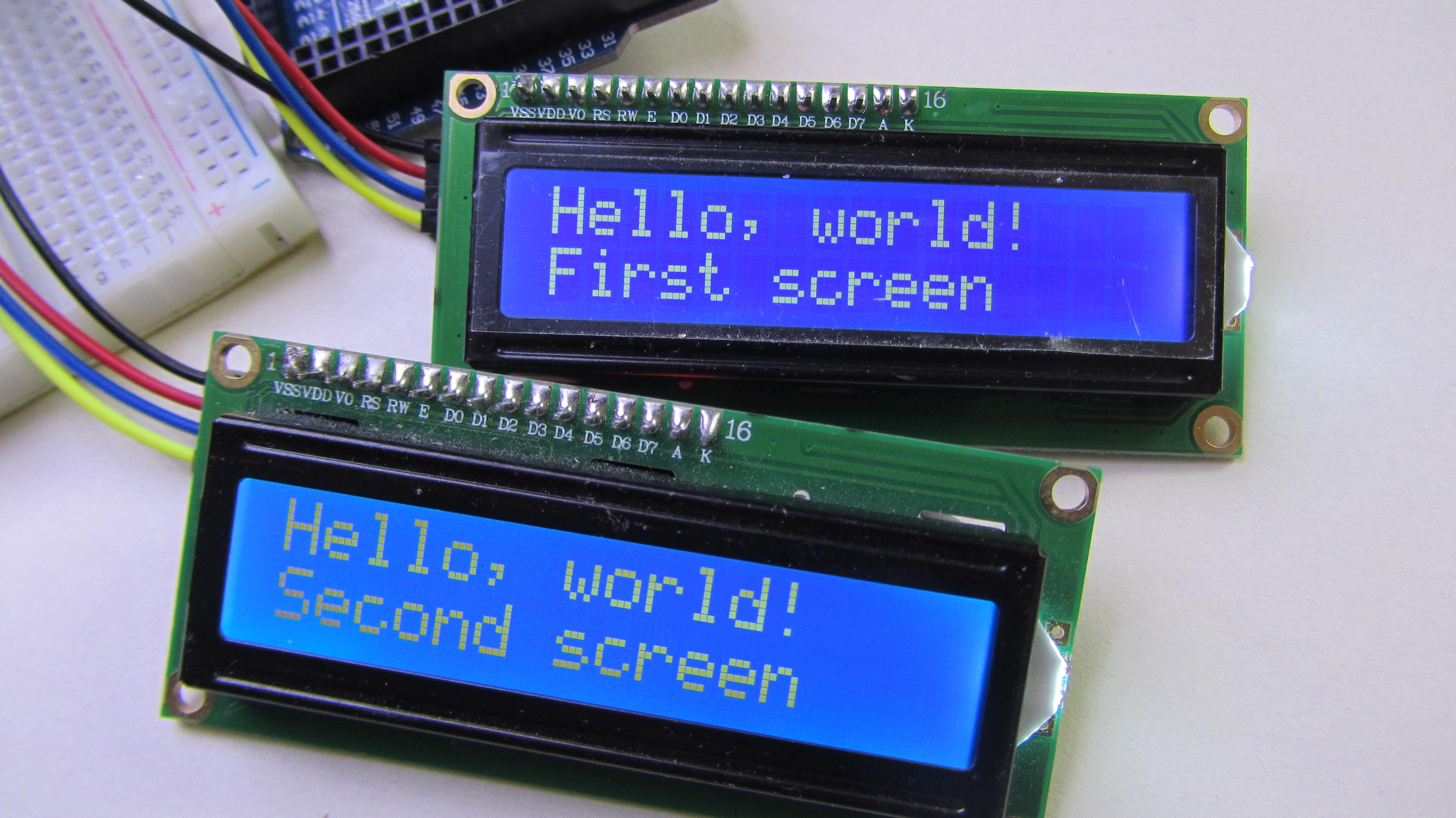 Подключаем несколько i2c экранов к arduino