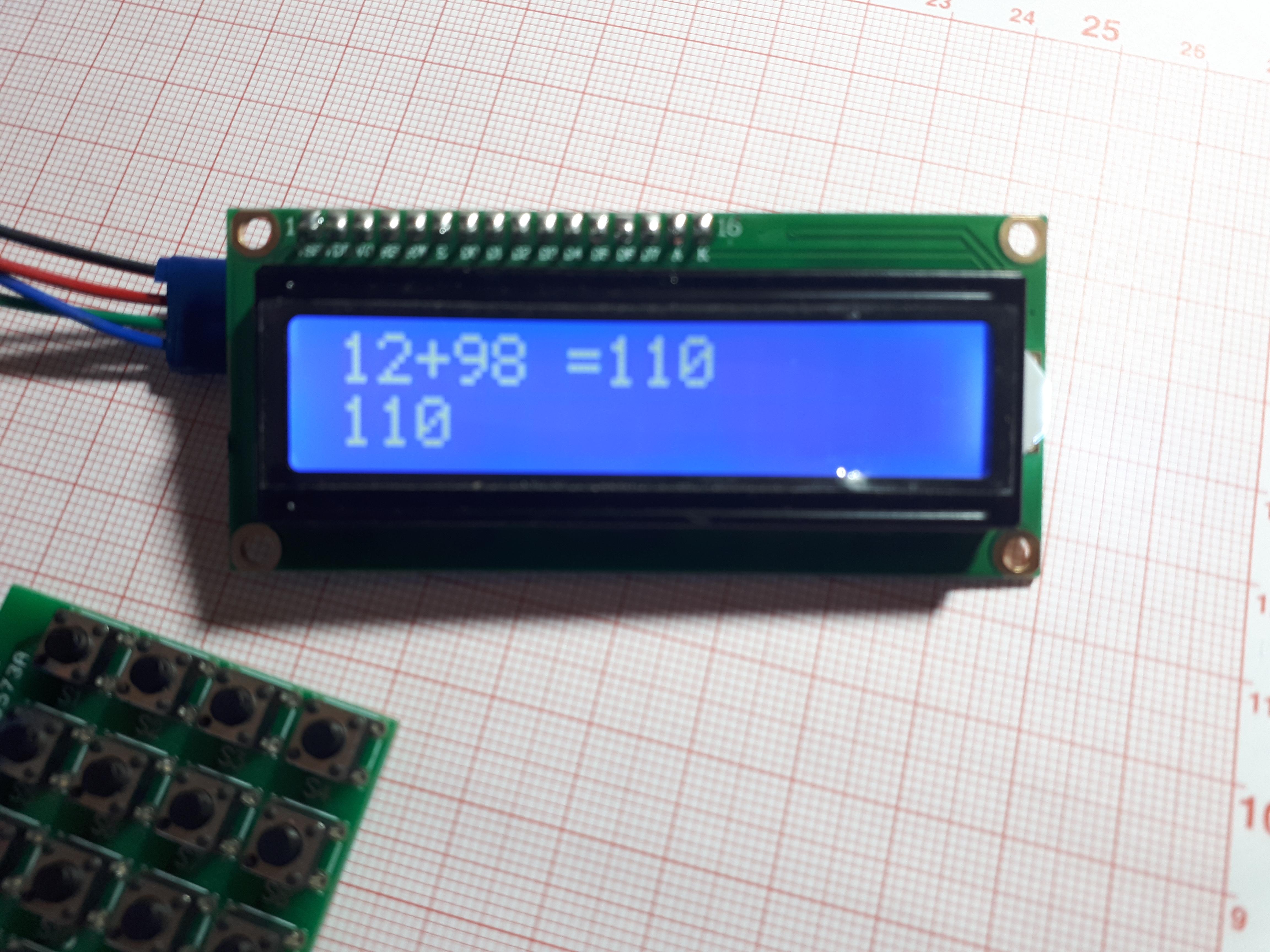 Калькулятор на Arduino