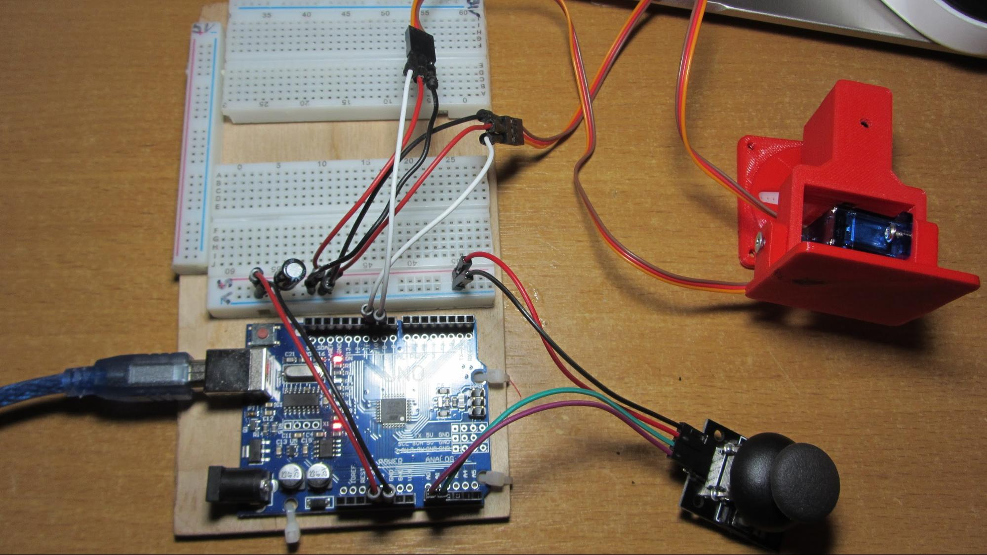 Манипулятор на двух серво приводах