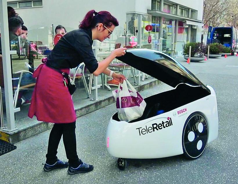 В Нидерландах показали роботов-курьеров