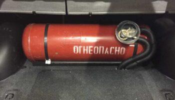 Перевозим газовые баллоны в автомобиле: простые правила безопасности