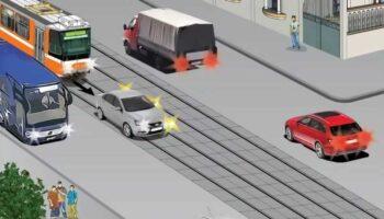 В каких случаях можно ехать по трамвайным путям